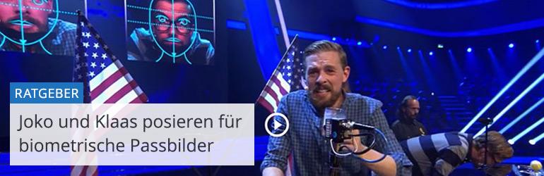 Joko gegen Klaas - das Duell um die Welt: Studiospiel biometrische Passbilder